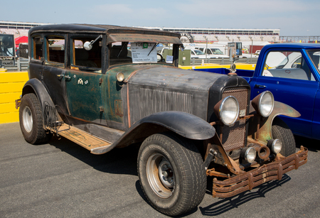 CONCORD, NC - September 22, 2017:  An unrestored 1929 Buick automobile on display at the Pennzoil AutoFair classic car show held at Charlotte Motor Speedway.