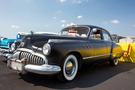CONCORD, NC - April 8, 2017:  An unrestored 1949 Buick automobile on display at the Pennzoil AutoFair classic car show held at Charlotte Motor Speedway. Editorial