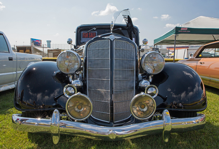 CONCORD, NC - April 8, 2017:  A 1934 Buick automobile on display at the Pennzoil AutoFair classic car show held at Charlotte Motor Speedway.
