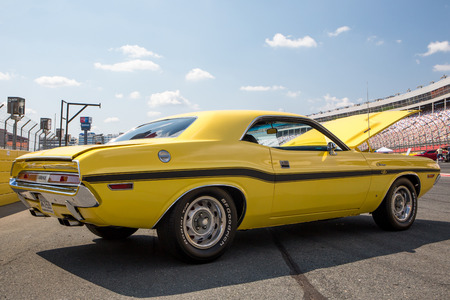 CONCORD, NC - September 22, 2017:  A 1970 Dodge Challenger automobile on display at the Pennzoil AutoFair classic car show held at Charlotte Motor Speedway. Editorial