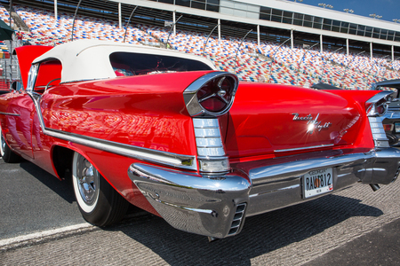 CONCORD, NC - September 22, 2017:  A 1957 Oldsmobile Ninety Eight on display at the Pennzoil AutoFair Classic Car Show at Charlotte Motor Speedway. Editorial
