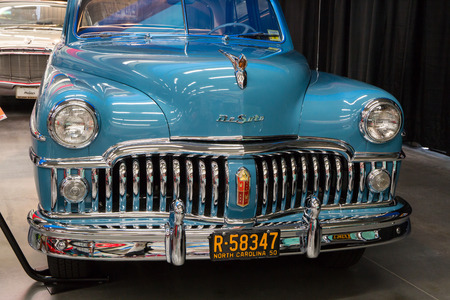 CONCORD, NC - September 22, 2017:  A 1950 DeSoto automobile on display at the Pennzoil AutoFair classic car show held at Charlotte Motor Speedway. Editorial