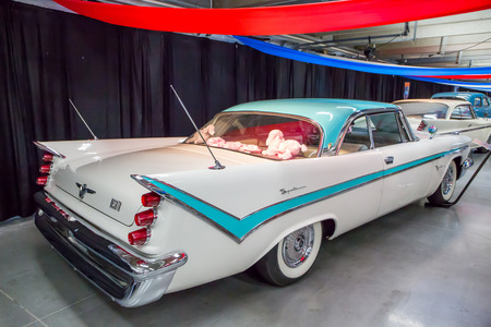 CONCORD, NC - September 22, 2017:  A 1959 DeSoto automobile on display at the Pennzoil AutoFair classic car show held at Charlotte Motor Speedway.