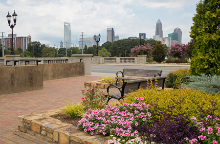 Urban greenway near downtown Charlotte, North Carolina.