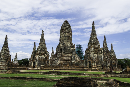 Old Beautiful Thai Temple Wat Chai Wattanaram, Ayutthaya Historical Park, Thailand Stock Photo