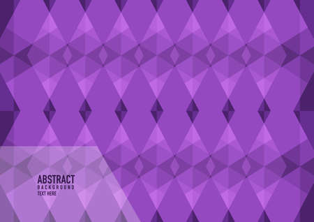 Polygon abstract on purple background. Light Green vector shining triangular pattern. An elegant bright illustration. Triangular pattern for your business design.