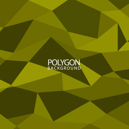 Polygon hexagon vector abstract background. Triangular geometric on green color pattern. Vettoriali