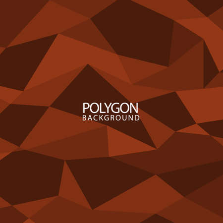 Polygon hexagon vector abstract background. Triangular geometric on brown color pattern. Vettoriali