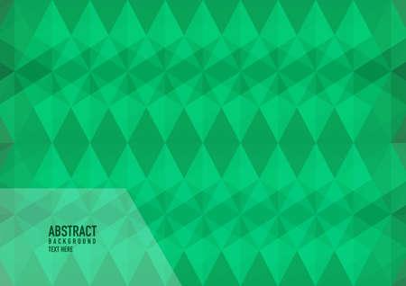 Polygon abstract on green background. Light green vector shining triangular pattern. An elegant bright illustration. Triangular pattern for your business design. Vettoriali