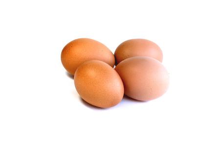 4 eieren, ei witte achtergrond.