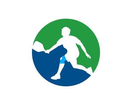 simple pickleball logo