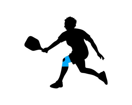 pickleball women player silhouette