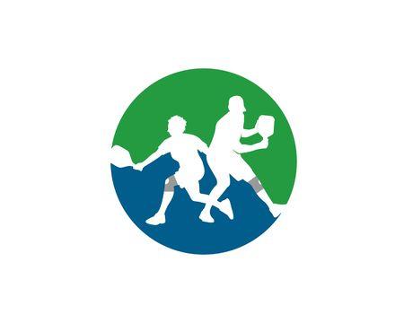 pickleball logo vector