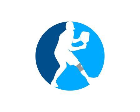 pickleball logo icon Vectores