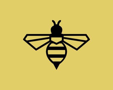 bee vector logo Illustration