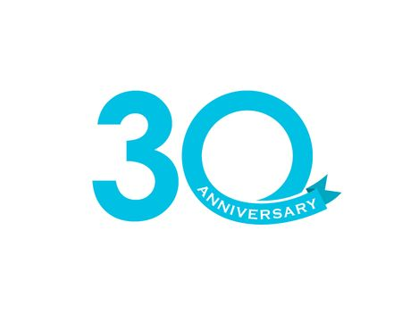 Illustrazione vettoriale di 30 anni Vettoriali