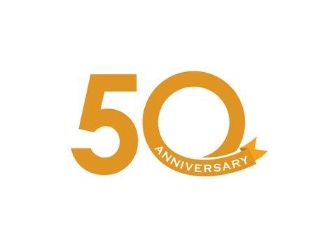50 anniversary vector illustration