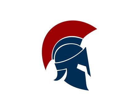 Blue spartan helmet icon Vectores