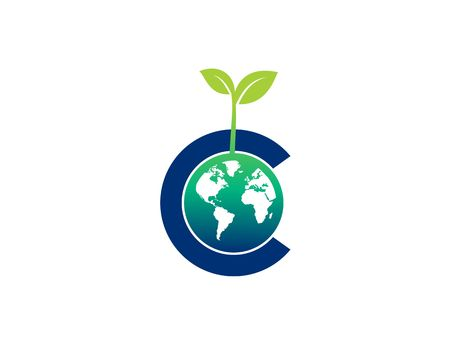 Go Green world vector Ilustração