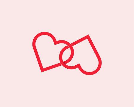 Love day icon vector