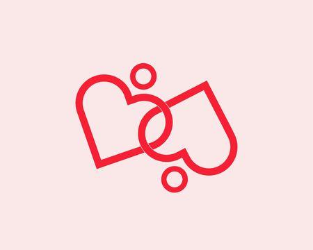 Heart rings vector Ilustração