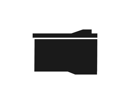 cartridge icon silhouette Ilustração