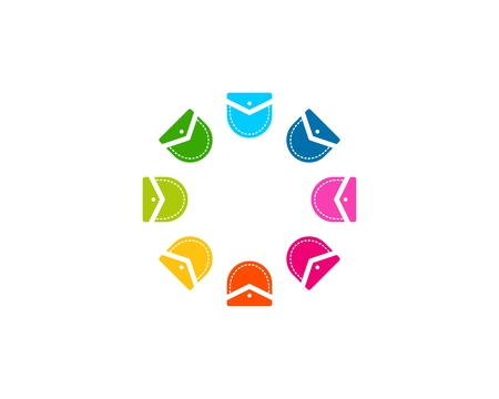 Playful pocket icon circle