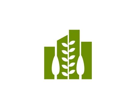 Eco Building flat icon