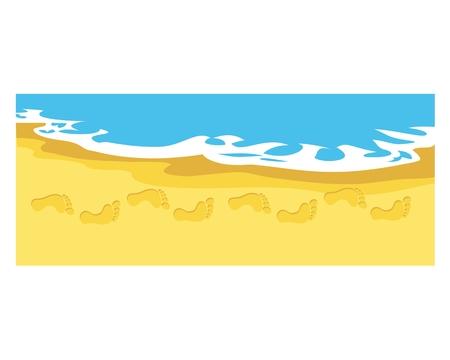 Footprint in the beach