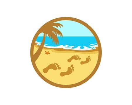 Footprint in beach