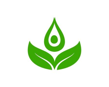 Leaf yoga green Ilustração