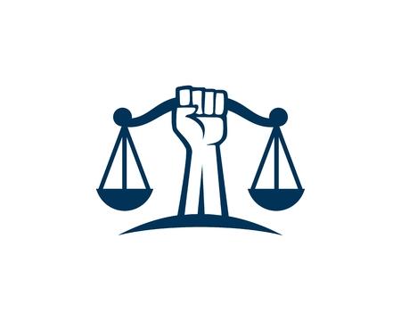 Revolution Justice logo vector Ilustrace