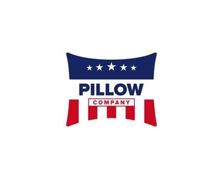 American Pillow icon illustration on white background. Ilustração