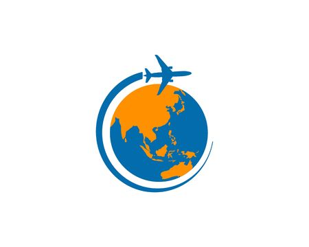 Travel Asia vector icon illustration on white background.