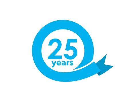 25 year anniversary Ilustração
