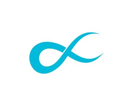 Blue Alpha logo abstract Illustration