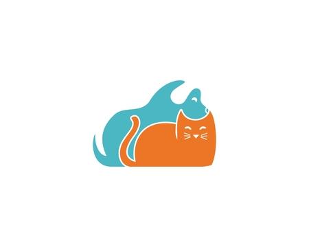 Orange and blue cute pet design