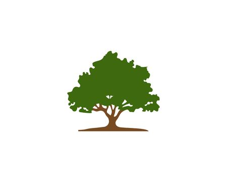 Tree shape vector on isolated background