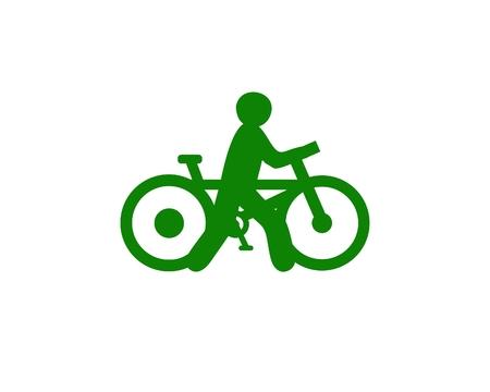 Bike walk design icon