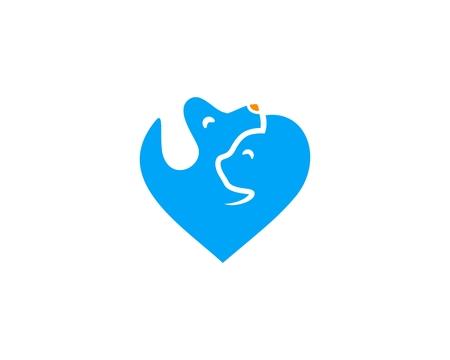 Pet love icon symbol