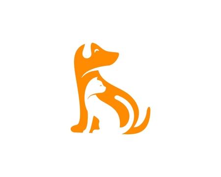 Dog and cat design icon