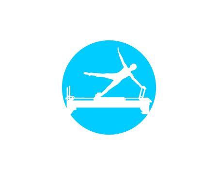Pilates machine silhouette Ilustração