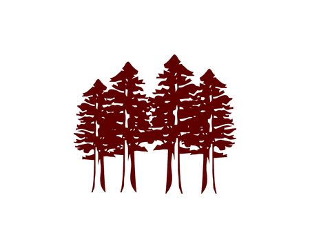 Redwood forest icon.