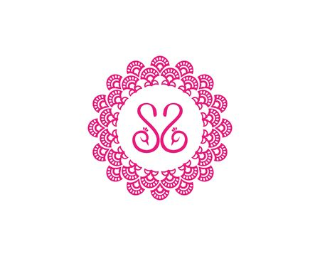 Circle ornament girly icon.