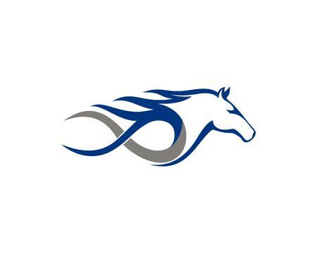 Fast Equine horse logo 일러스트