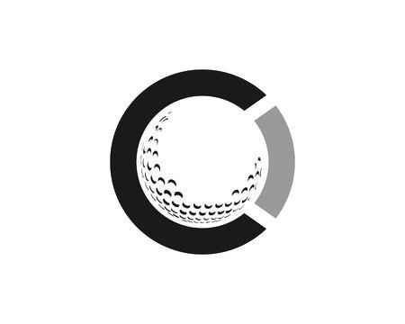 Circle golf icon. Ilustração