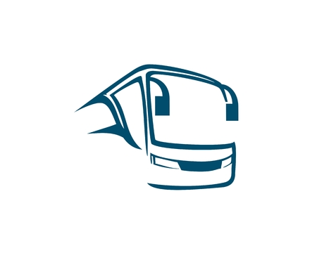 Bus logo abstract Illustration
