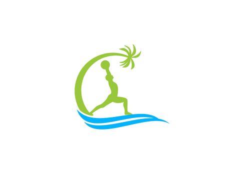 Cross fit beach logo Ilustração