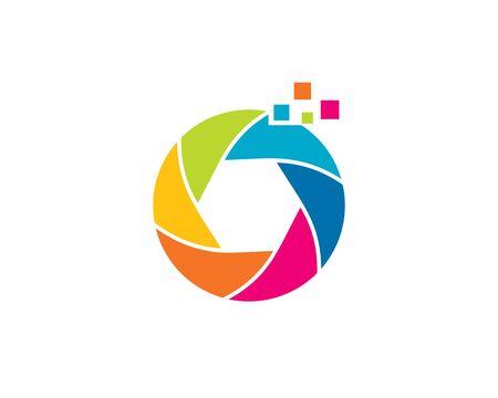 Pixel Camera Colorful logo 일러스트