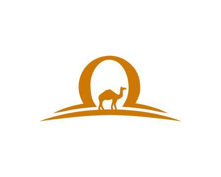 Camel Sand logo Banco de Imagens - 133335952